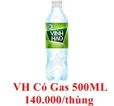 nước Vĩnh Hảo có gas 500 ML